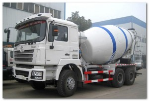 Concrete Mixer Running