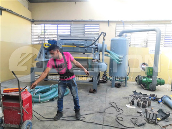 Installation of Egg Tray Machine in Dominica